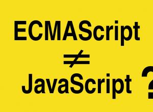 ECMAScript не то же самое, что JavaScript