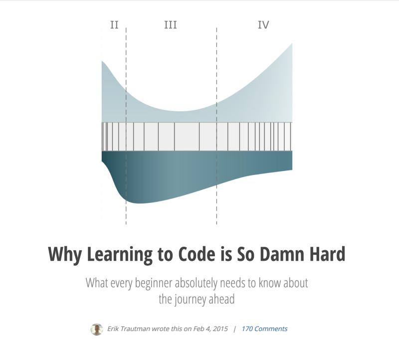 Почему так сложно научиться кодить