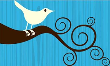 Первый вариант лого твиттера