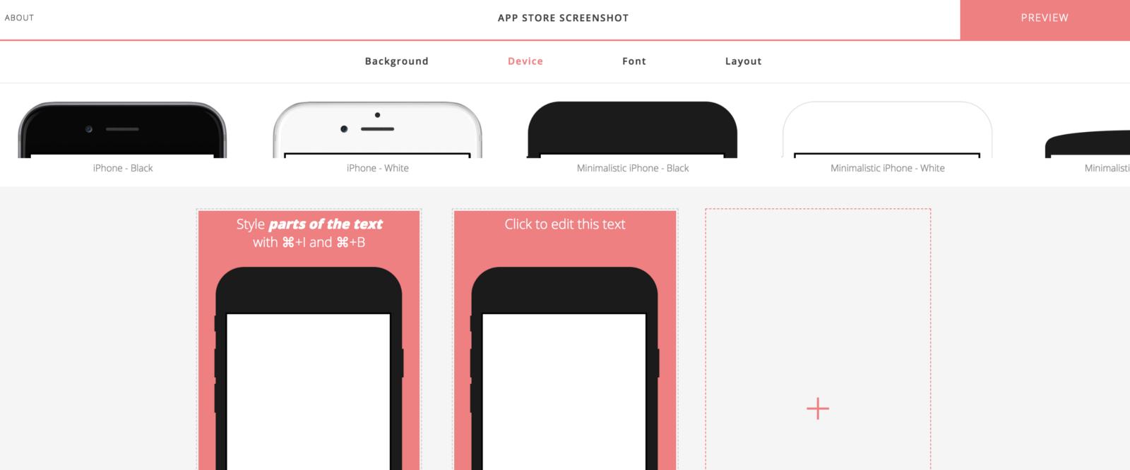 Appstore screenshot generator
