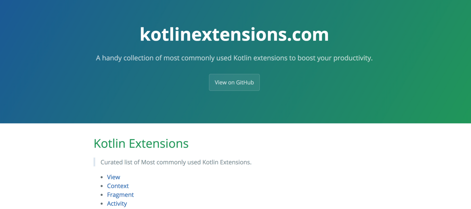 Kotlin extensions