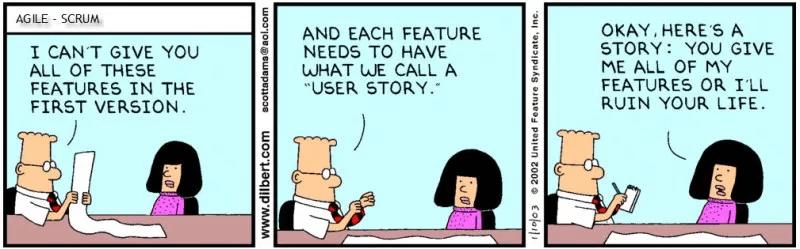 Дилберт - пользовательские истории