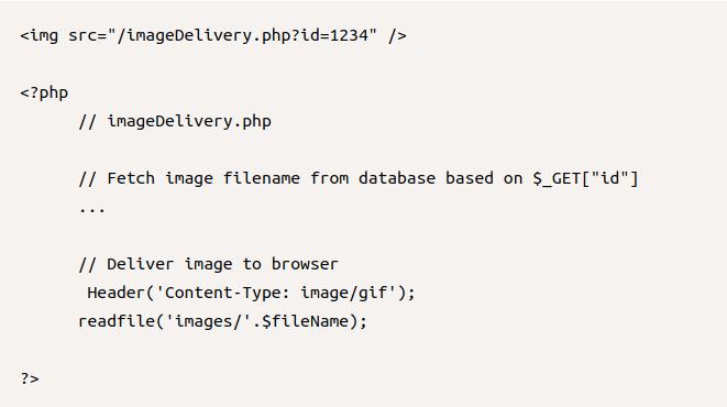 Ваш атрибут src может указывать на ваш скрипт доставки файлов