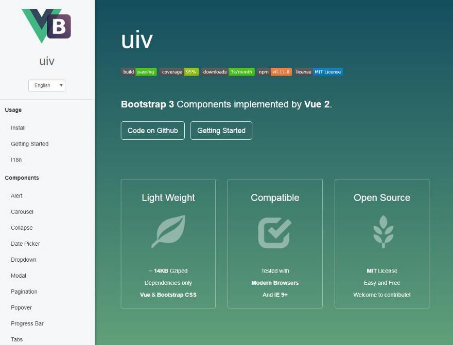 Библиотека UIV