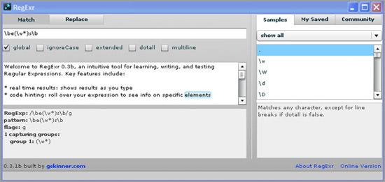 RegExr Desktop