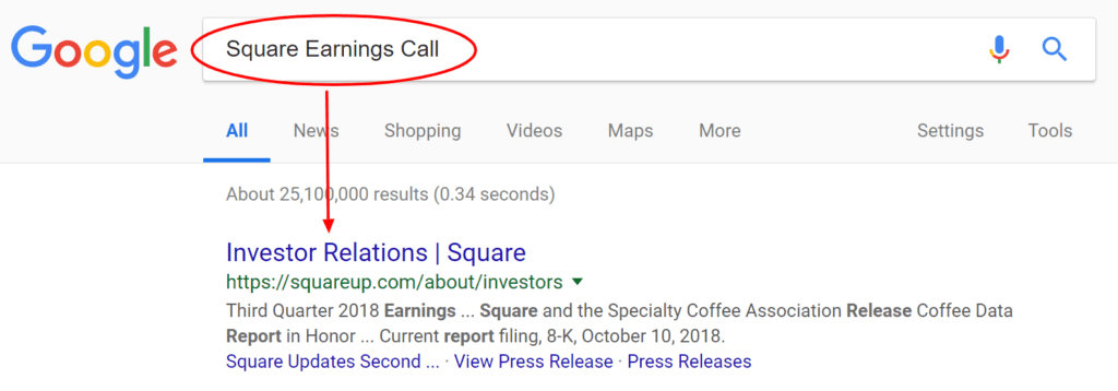 пример Square