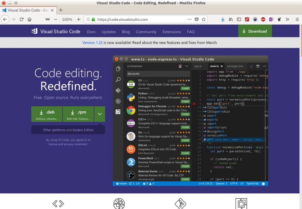 Официальный сайт VS Code