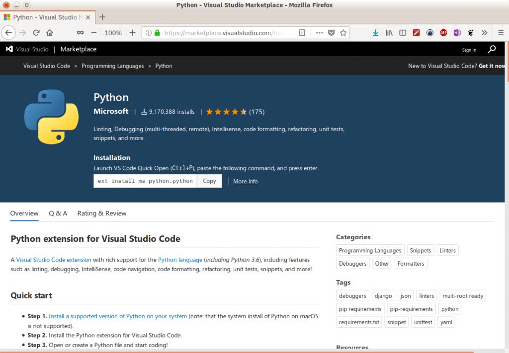 Расширения VS Code для Python