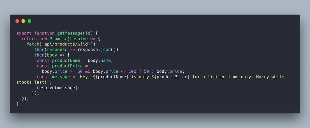 Отформатированный код
