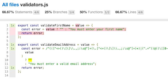Отчет о покрытии кода