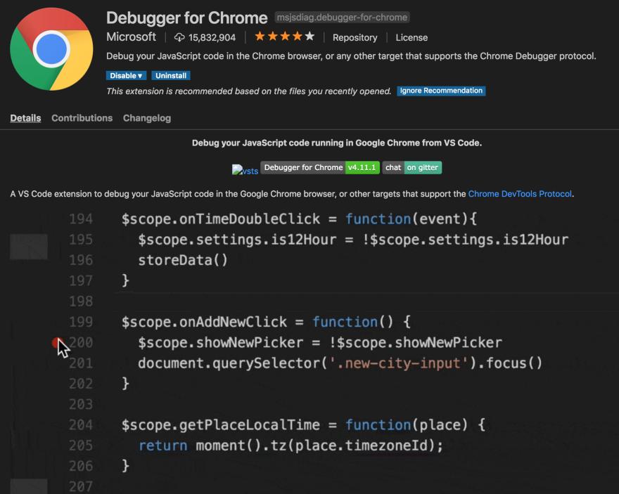 Debugger for Chrome