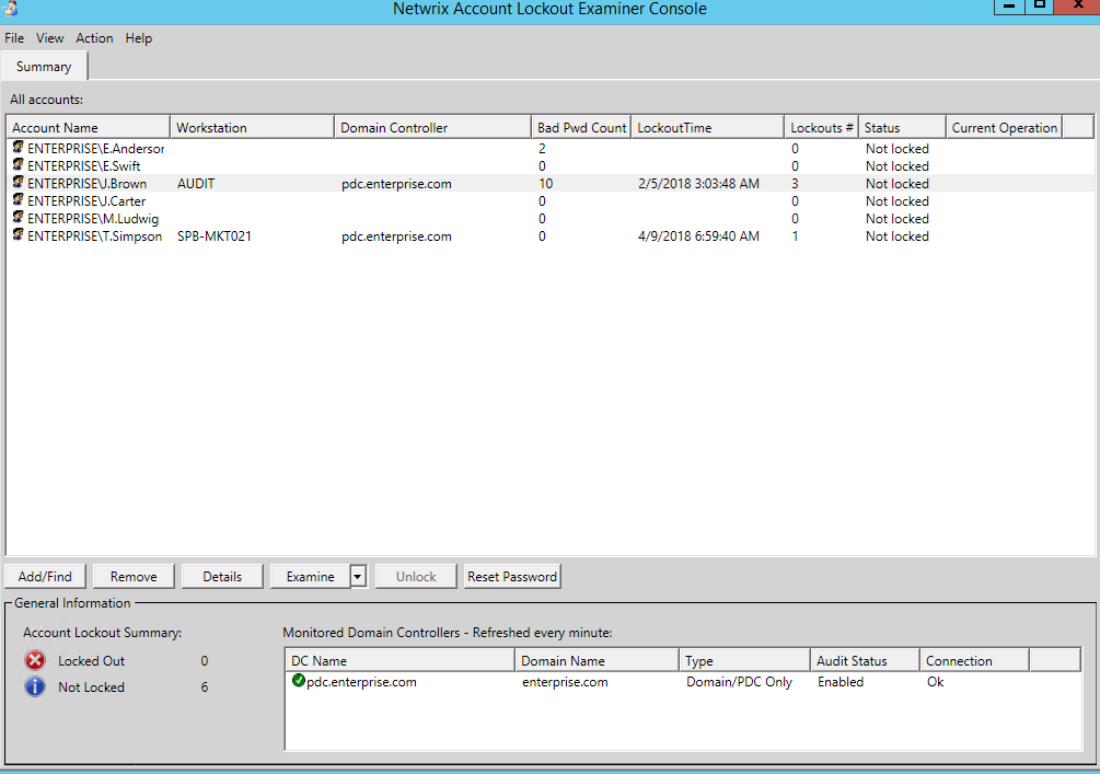 Netwrix Account Lockout Examiner