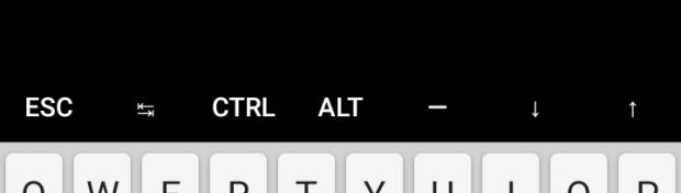 Специальные клавиши в Termux