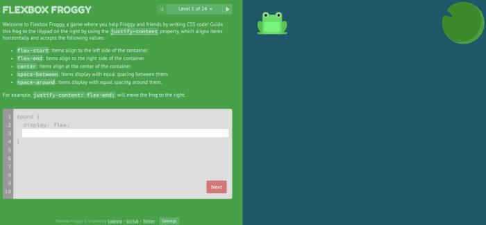 Flexbox Froggy