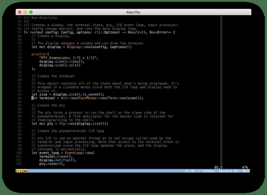 Alacritty - терминал для Windows, macOS, Linux, BSD
