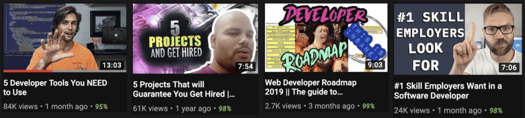 Информационные каналы на YouTube