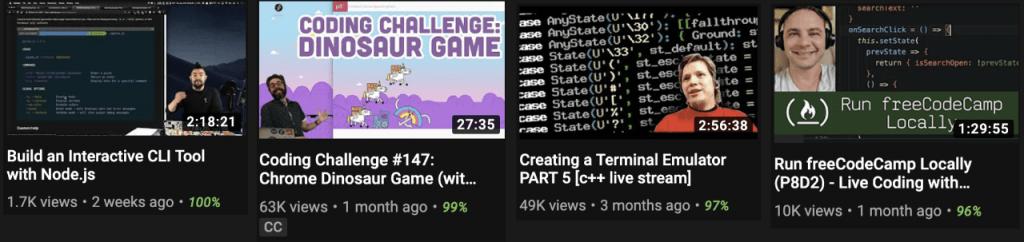 Каналы на YouTube с сессиями кодинга
