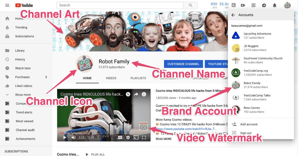 Планирование и настройка канала на YouTube