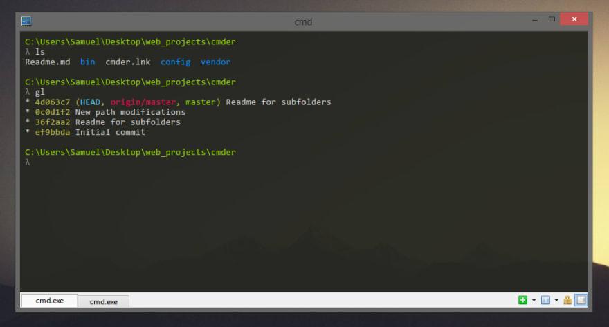 Cmder - терминал для Windows