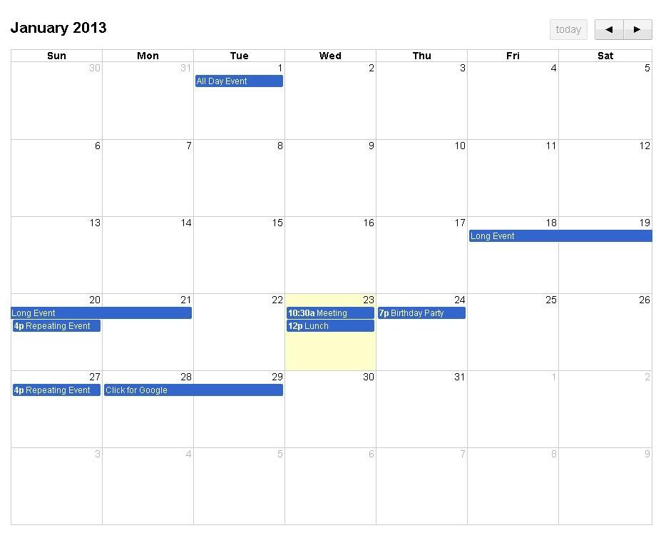 Большой календарь React