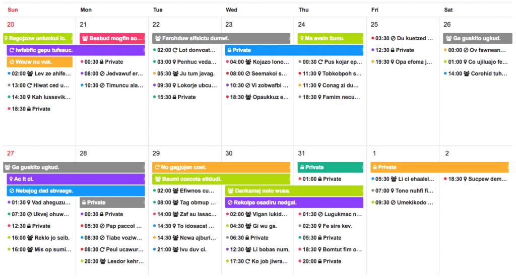 Календарь Tui