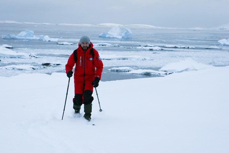 Выход на лыжах на самую высокую точку острова