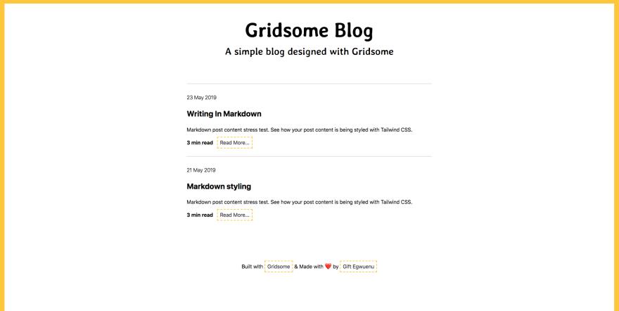 Проект сайта-блога