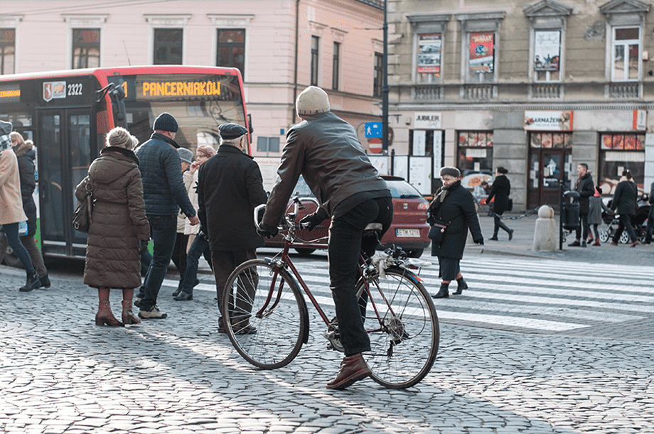 Велосипедисты в Люблине