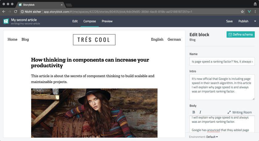 Проект многоязычного сайта-блога