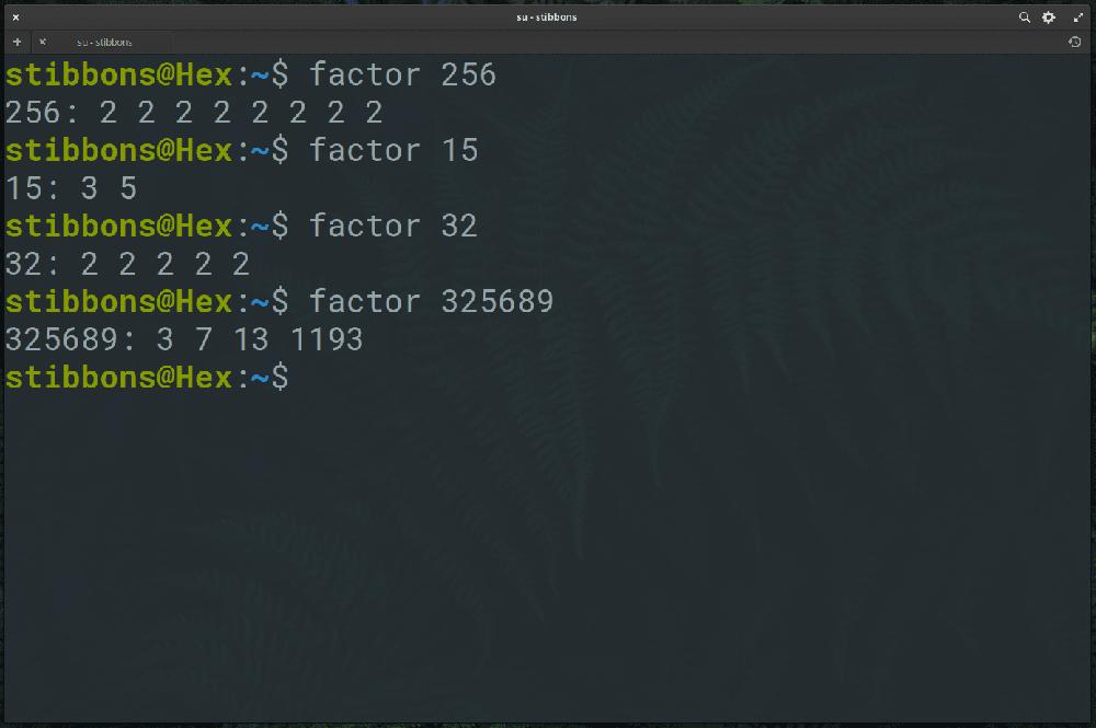 factor command