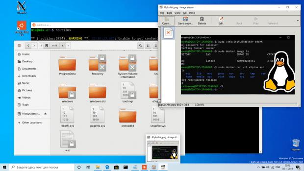 WSL и программы Linux с графическим интерфейсом