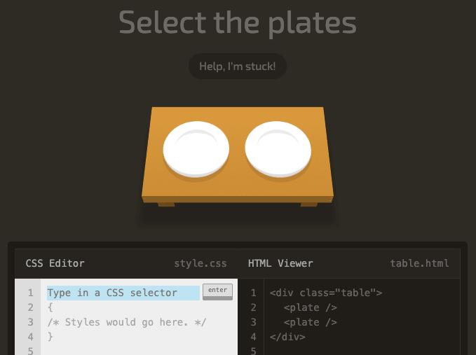 CSS Diner - игра для изучения CSS
