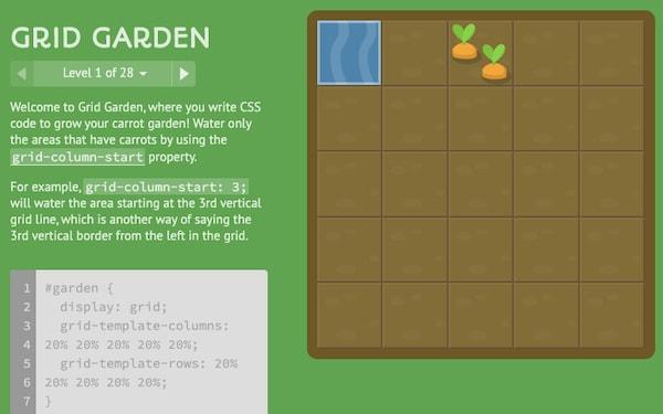 Grid Garden - игра для изучения CSS