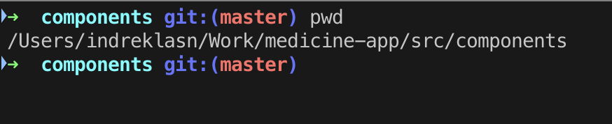 Команда pwd