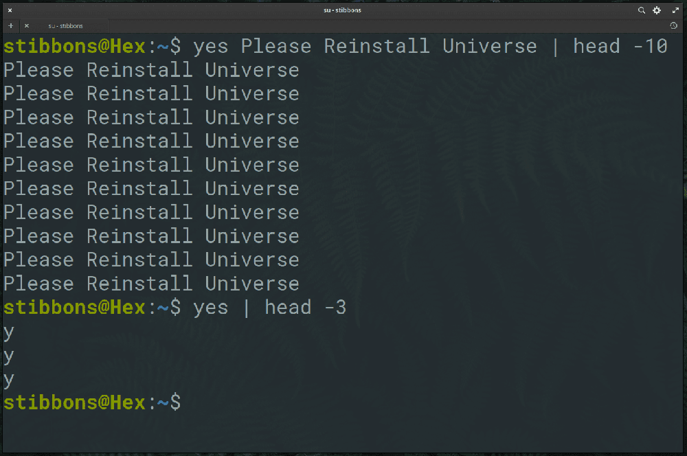 yes linux command
