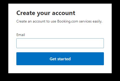 Короткая форма регистрации - только адрес электронной почты