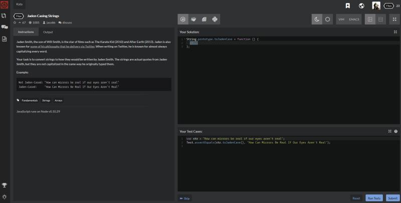 Codewars - большая коллекция задач по программированию