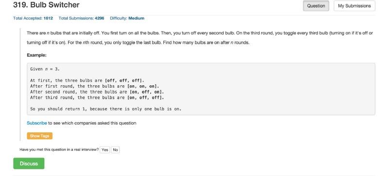 LeetCode - сайт по спортивному программированию