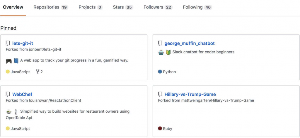 Значки для проектов делают профиль на GitHub читабельнее