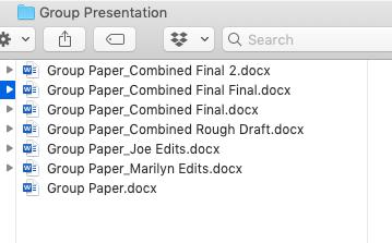 Как выглядела групповая работа над проектом до появления Git