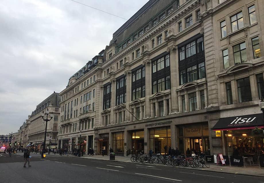 Главный корпус моего университета на Regent Street в Лондоне