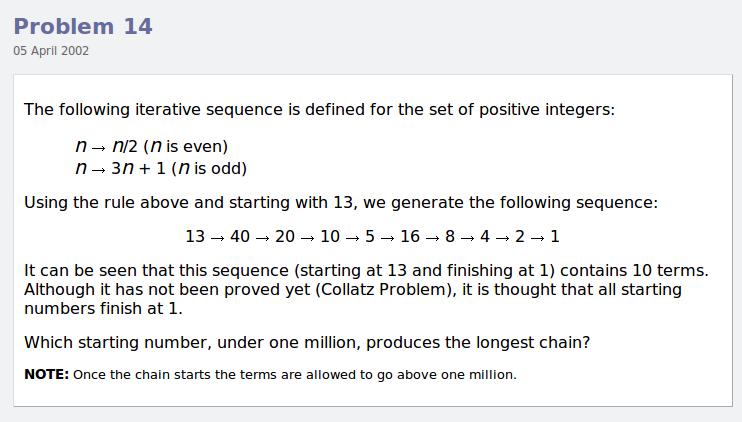 Project Euler - обширная коллекция задач по программированию