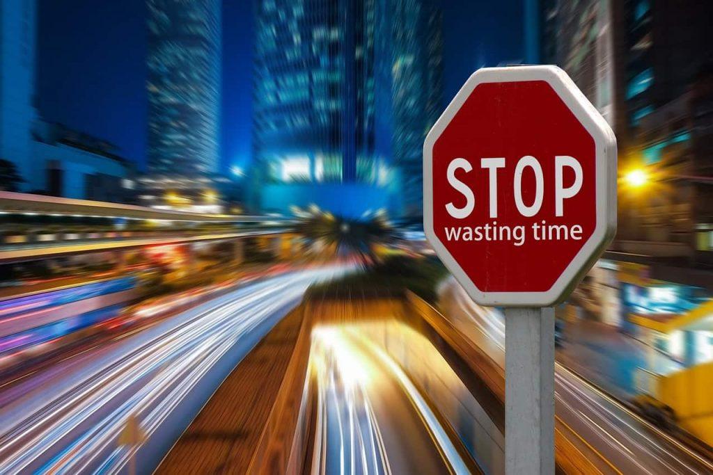 Как прекратить зря терять время