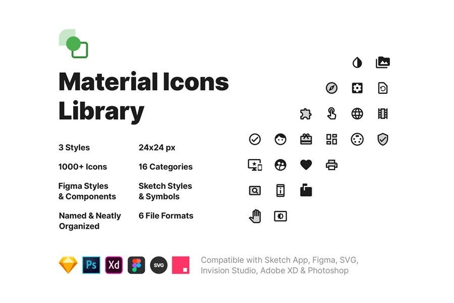 Pixsellz Material Icons Library