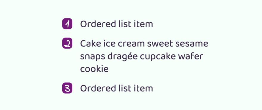 Упорядоченный список, к которому применили кастомизированные стили списков