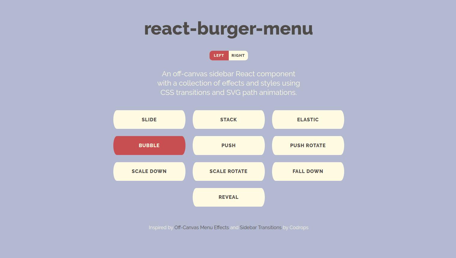 React burger menu