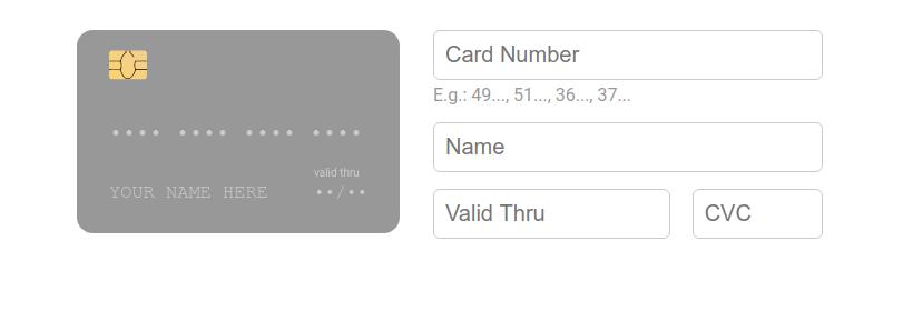 React Credit Cards
